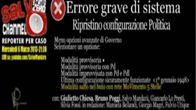 Errore grave di sistema. 06/03/2013