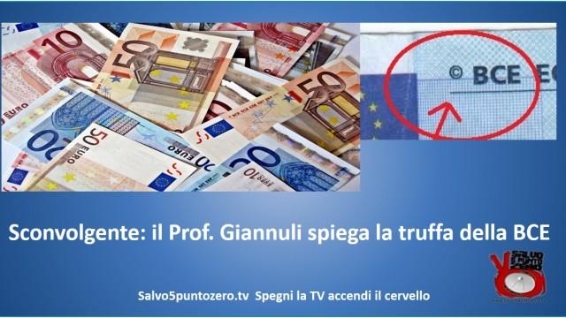 Sconvolgente! Il prof. Giannuli spiega la truffa della BCE e della moneta Euro