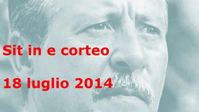 Sit in e corteo delle agende rosse 18 luglio 2014