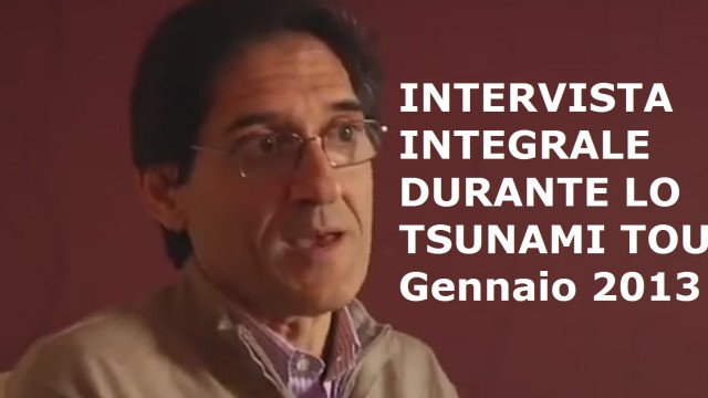 Intervista integrale a Salvo Mandarà durante lo Tsunami Tour. Gennaio 2013
