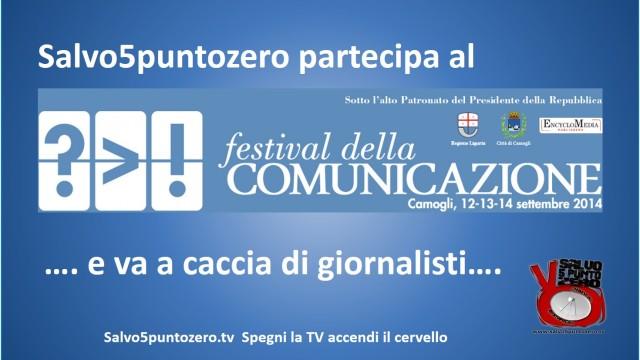 Camogli, festival comunicazione. Aggiornamenti sabato 13/09/2014