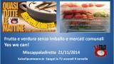 Miscappaladiretta 21/11/2014. Mercati comunali? Yes we can! La lotta continua!