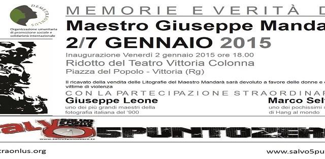 Promo Mostra Giuseppe Mandarà 2 gennaio 2015