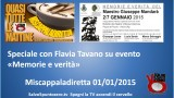 Miscappaladiretta speciale con Flavia Tavano sulla Mostra Giuseppe Mandarà. 01/01/2015