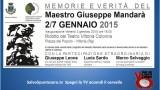 Memorie e Verità di Giuseppe Mandarà. Breve riassunto. 04/01/2015