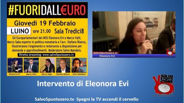 #Fuoridalleuro. Luino. Intervento di Eleonora Evi. 19/02/2015