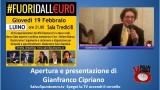#Fuoridalleuro. Luino. Apertura e introduzione di Gianfranco Cipriano. 19/02/2015