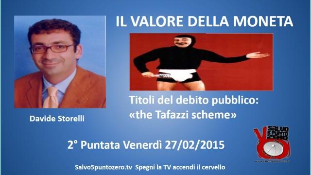 Il valore della moneta di Davide Storelli. 2a Puntata. Titoli del debito pubblico: the Tafazzi scheme. 27/02/2015