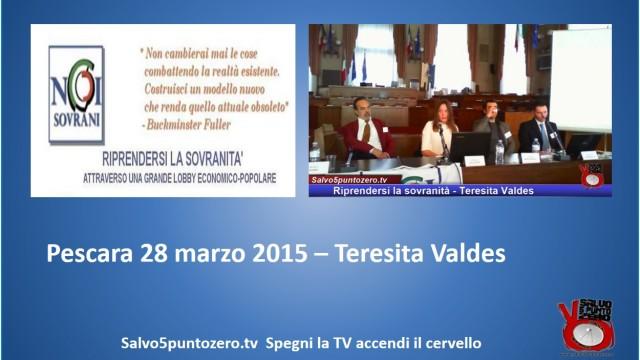 Riprendersi la sovranità – Pescara – Intervento di Teresita Valdes. 28/03/2015