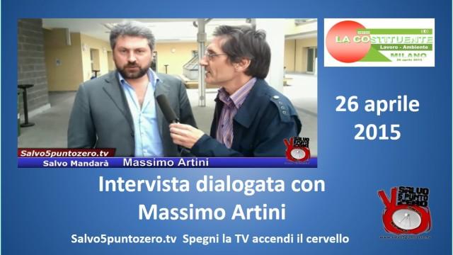 Intervista dialogata con Massimo Artini. 26/04/2015