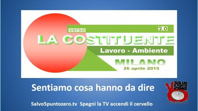Notizie dalla Costituente di Milano 26/04/2015