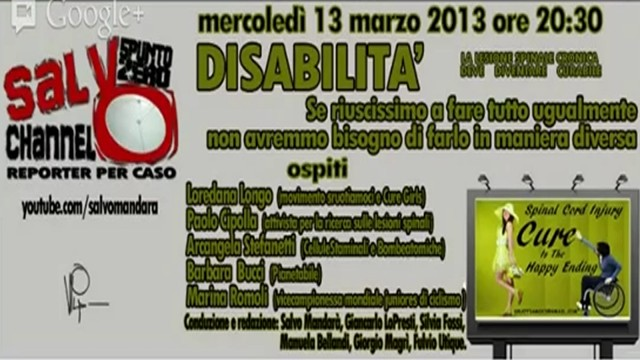 Disabilità: la lesione spinale cronica deve diventare guaribile. 13/03/2013.
