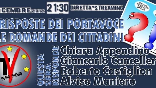 Filo diretto con i portavoce. 05/12/2012