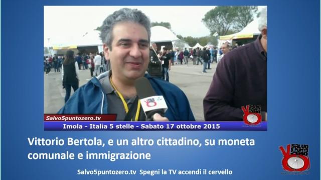 Vittorio Bertola, e un altro cittadino, su moneta comunale e immigrazione. #imola #italia5stelle. 17/10/2015