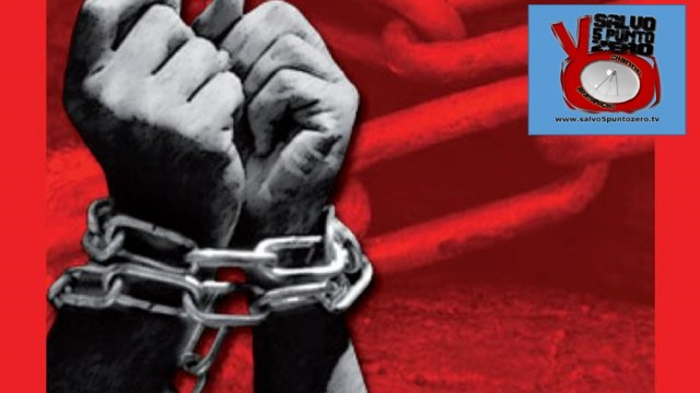 Basta schiavitù. Presentazione LA NOSTRA MONETA. Vittoria. 05/12/2015