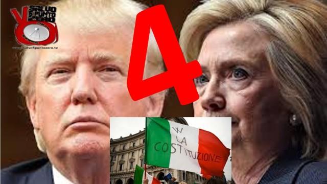 Hillary, Donald, Costituzione. Intanto noi festeggiamo 4 anni! Miscappaladiretta 07/11/2016
