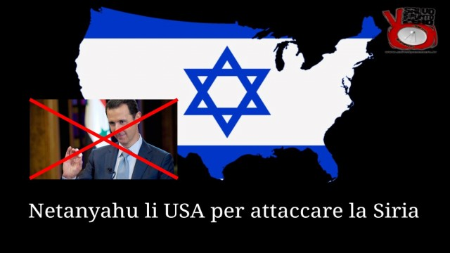 Netanyahu li USA per attaccare la Siria! Miscappaladiretta by night 07/04/2017.