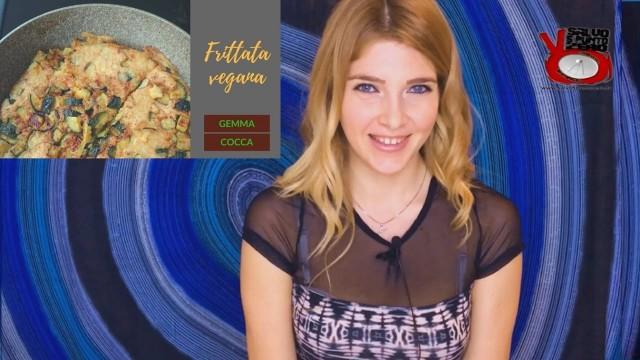 Le ricette di Gemma Cocca: frittata vegana di ceci e zucchine. 06/04/2017
