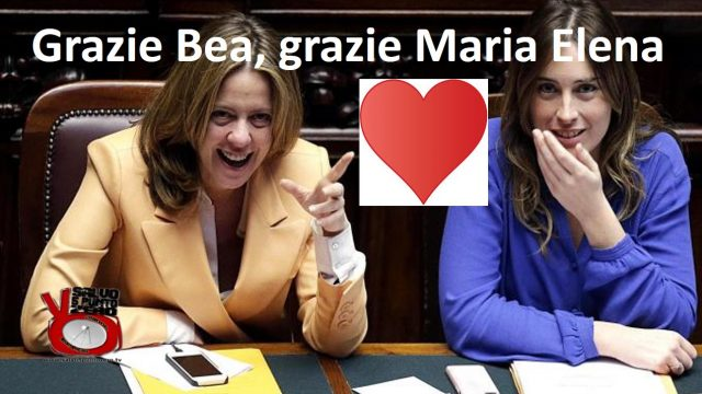 Grazie Bea, grazie Maria Elena! Miscappaladiretta by night 19/05/2017.