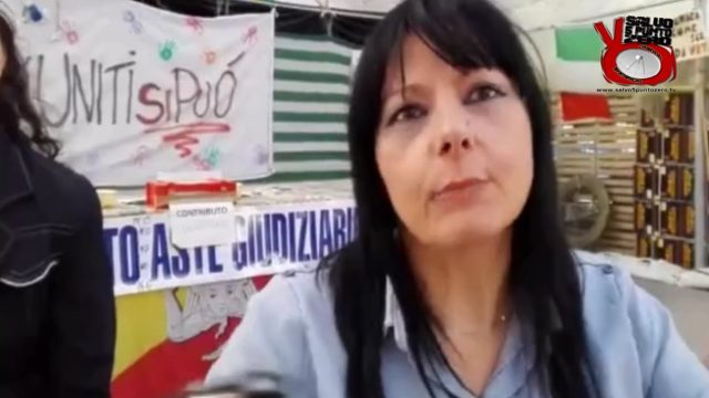 Rosetta Piazza in sciopero della fame per la casa all'asta. 23/05/2017.