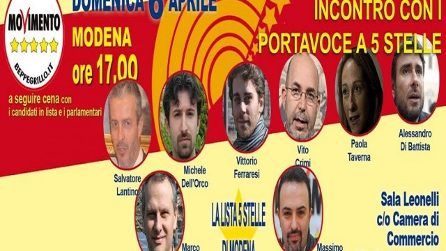 Agorà/Modena: A.DiBattista, P.Taverna, V.Crimi, V.Ferraresi, C.Sibilia