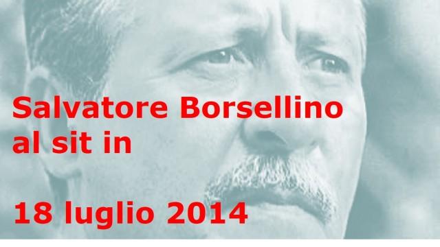 Salvatore Borsellino al sit in di fronte al Tribunale