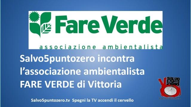 Salvo5puntozero incontra gli attivisti di Fare Verde Vittoria. 28/08/2014