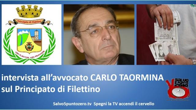 Intervista a Carlo Taormina, principe reggente del Principato di Filettino. 15/09/2014