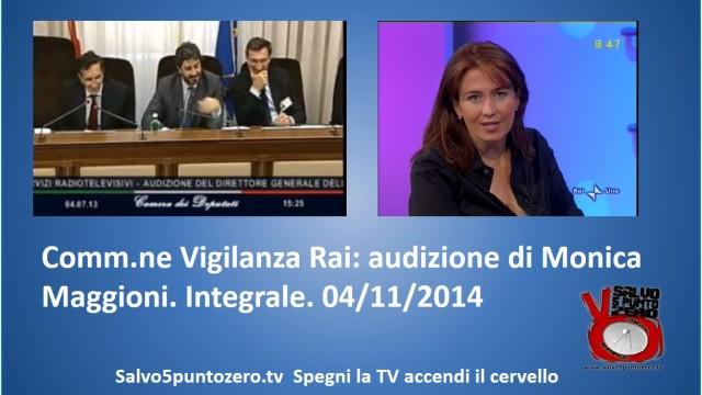Commissione di Vigilanza RAI seduta del 04/11/2014. Integrale