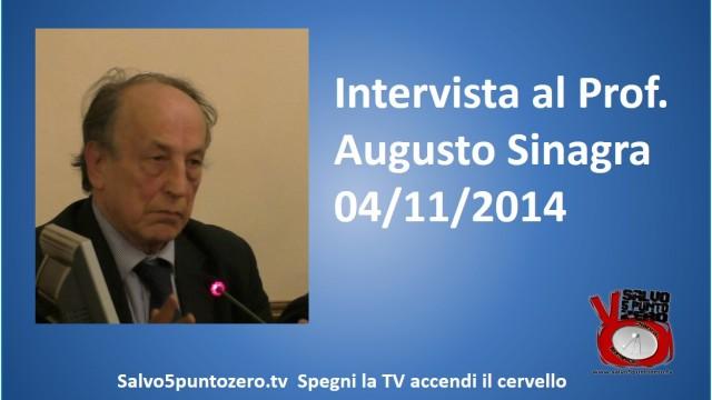 Intervista al Professor Augusto Sinagra. 04/11/2014
