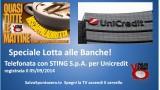 Lotta con le Banche. Telefonata con STING S.p.A. per Unicredit. Registrata 05/09/2014