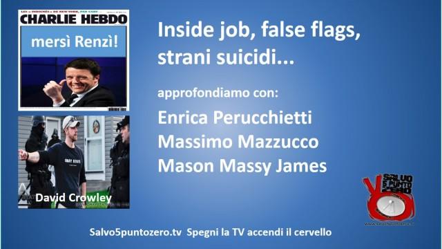 Inside Job, False flags, strani suicidi…ne parliamo con Enrica Perucchietti, Mason Massy James, Massimo Mazzucco.