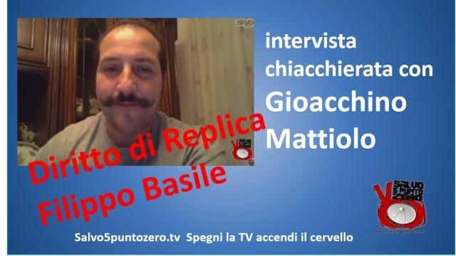 Diritto di Replica. Filippo Basile replica su dichiarazioni di Gioacchino Mattiolo. 13/01/2015
