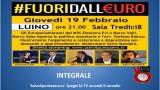 #Fuoridalleuro. Luino. Integrale. 19/02/2015