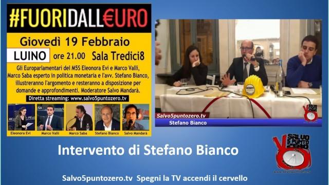 #Fuoridalleuro. Luino. Intervento di Stefano Bianco. 19/02/2015