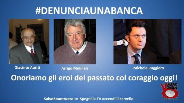 Lancio della Campagna #DENUNCIAUNABANCA! Basta lamentarsi o suicidarsi. Denunciamo i criminali banchieri!