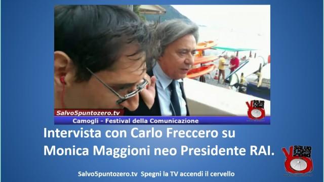 Intervista con Carlo Freccero su Monica Maggioni, Neo Presidente RAI. Camogli, 12/09/2015