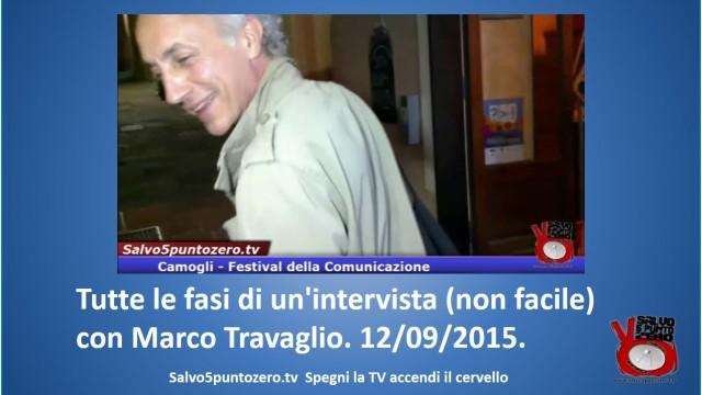 Camogli. Tutte le fasi di un'intervista (non facile) con Marco Travaglio. 12/09/2015