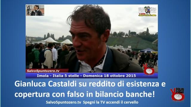 Gianluca Castaldi su reddito di esistenza e copertura con falso in bilancio banche! #imola #italia5stelle. 18/10/2015.