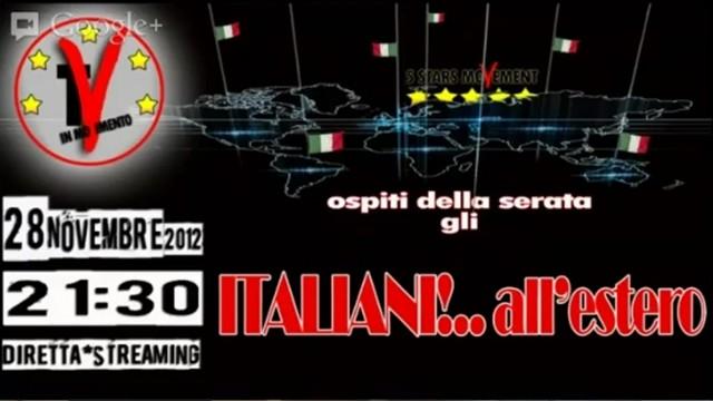 Italiani all'Estero. 28/11/2012