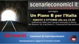 """Gli eventi trasmessi da Salvo5puntozero: scenari economici """"Un piano B per l'Italia"""". Parte 1/3. Presentazioni. 03/10/2015"""
