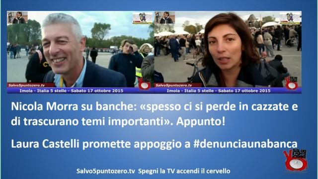 Nicola Morra e Laura Castelli su banche e #denunciaunabanca. #imola #italia5stelle. 17/10/2015
